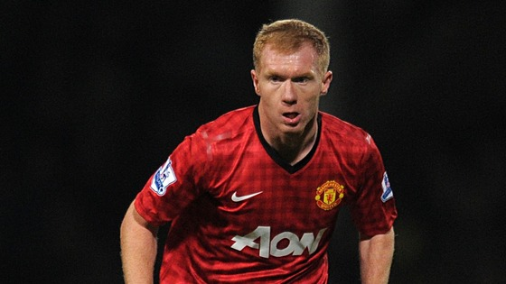Paul Scholes in action for Manchester United.