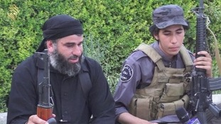 An Islamic State fighter says it is in Yazidis' interests to convert.
