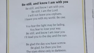 Hymn chosen for Liam Sweeney's funeral