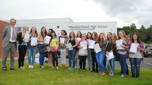 Weatherhead students parade their results.