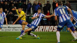 Christian Burgess in action for Hartlepool United last season.
