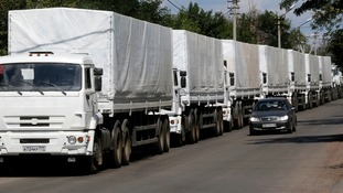 The aid convoy was dispatched from Moscow five days ago.