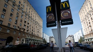One of four temporarily closed McDonald's restaurants in Moscow.