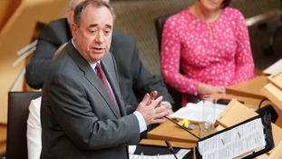 First Minister Alex Salmond during First Minister's Questions at the Scottish Parliament in Edinburgh.