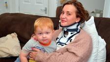 Sharlodane Beckles and her son Oakley survived the coach crash