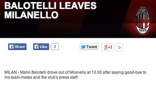 Statement on Milan's website.