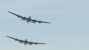 The Lancaster bombers above Clacton.