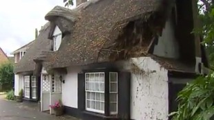 Five thatched cottages were targeted.