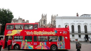 Tourist bus in York