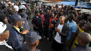 Violent clashes erupted in the West Point slum of Liberia's capital Monrovia yesterday after authorities quarantined the entire neighbourhood