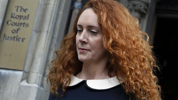 Former News International chief executive Rebekah Brooks leaves after giving evidence to the Leveson