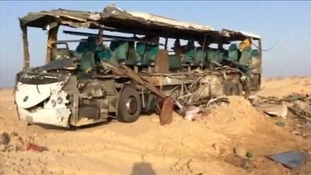 38 people died and dozens were injured when two buses collided before dawn on Friday in Egypt's Sinai Peninsula.