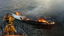 Sailor escapes burning yacht 10 miles off coast