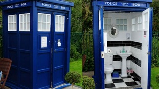 Is it really bigger on the inside? The Who Loo was fitted at the Warmley Waiting Room two weeks ago.