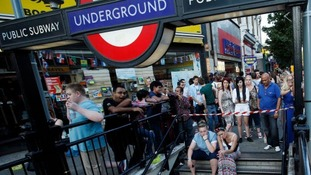 Carnival-goers wait fro the tube to reopen after last year's event