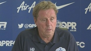 Harry Redknapp speaking at a press conference today.