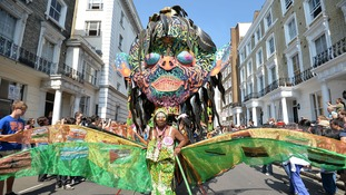 The Notting Hill Carnival takes place in west London this weekend.