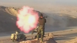 Fighter fires an RPG.