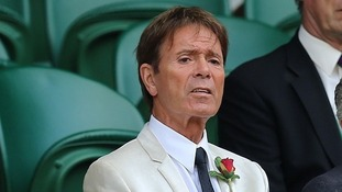 Sir Cliff Richard pictured at Wimbledon in July.