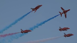 The Red Arrows are famous for their acrobatic displays