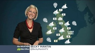 ITV weather presenter Becky Mantin