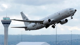 A US Navy P-8 Poseidon similar to the one that had a close shave with a Chinese jet