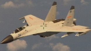 A Chinese fighter plane that came within 20 to 30 feet of a US Navy patrol plane.