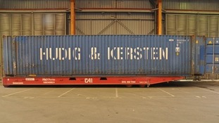 The container used to bring 35 immigrants into the UK