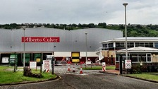 Uniliver's site in Swansea, where proposals from the firm could lead to the loss of 225 jobs.