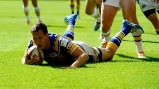 Leeds Rhinos' Danny McGuire scores his sides second try of the game