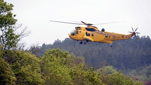 Stock image of an RAF Sea King helicopter.