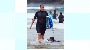 David Cameron spends weekend in Cornwall