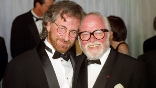 Spielberg and Attenborough at the premiere of Jurassic Park.