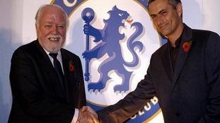 Lord Attenborough with Jose Mourinho.