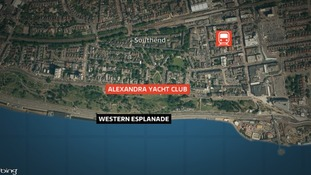 Location of yacht club building fire