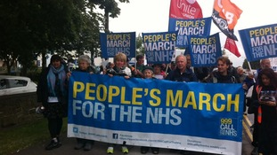 NHS campaigners set off from Barnsley hospital