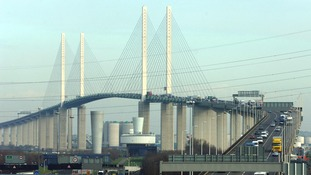 The lorry was stopped near the Dartford Crossing in Kent