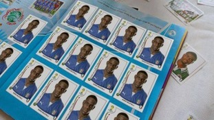 Balotelli filled up an entire World Cup sticker album with pictures of himself.