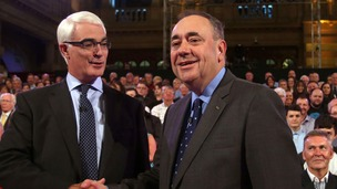 Salmond offered a far more aggressive approach in tonight's debate.