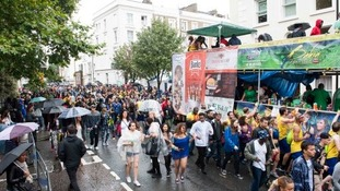 A rainy day for the Notting Hill Carnival
