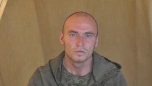 Ukraine security officials have released a video they claim shows captured Russian paratroopers.