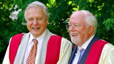 Richard Attenborough (right) with younger brother David.