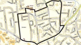 Map showing area covered by dispersal order