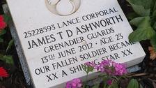L/Cpl James Ashworth's original gravestone.