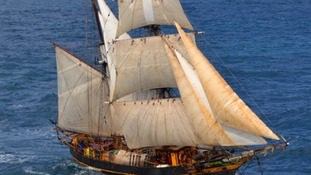 The Tres Hombres cargo sailing ship