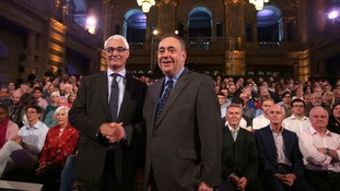 Alistair Darling (left) and First Minister Alex Salmond