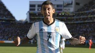 Angel Di Maria starred for Argentina at the Brazil World Cup.