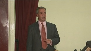 Nigel Farage speaks to party members in South Thanet.