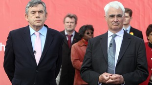 Gordon Brown and Alistair Darling are said to have clashed towards the end of Labour's time in power.