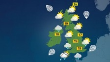 Sunny spells with some light rain in the south-west
